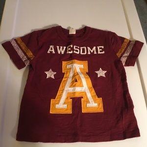 "Gap Boys ""Awesome"" Short Sleeve Shirt  Size 2Yrs"